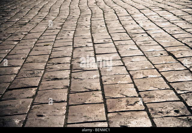 Cobbles on the street - can be used as background - Stock Image