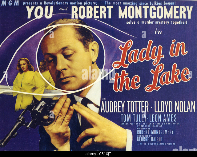 LADY IN THE LAKE 1947 MGM film with Robert Montgomery based on the novel by Raymond Chandler - Stock Image