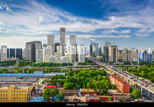 Beijing, China CBD skyline. - Stock Image