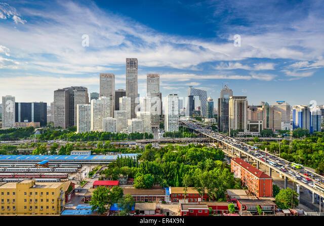 Beijing, China CBD skyline. - Stock Image