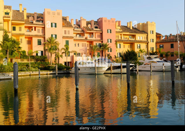 Sotogrande Marina Spain luxury living in Andalucia, Spain properties living in the sun - Stock Image