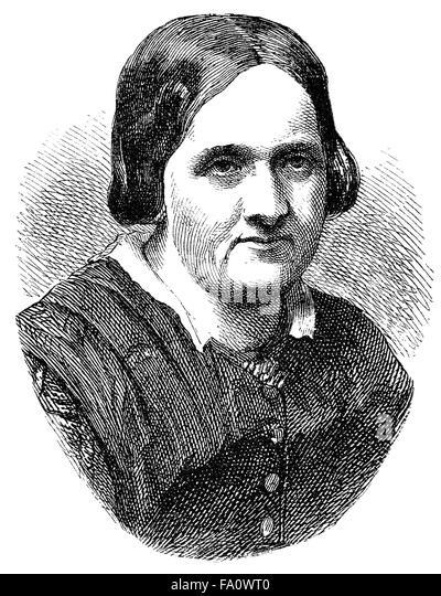 Ottilie Wildermuth, 1817-1877, German writer and youth book author, - Stock-Bilder