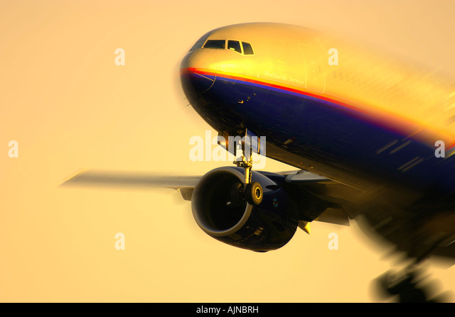 Close up of commercial aeroplane - Stock Image