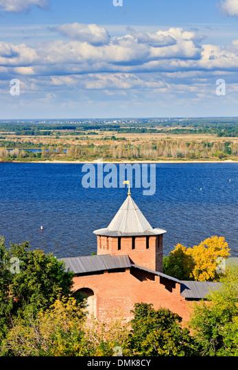 Nizhny Novgorod Kremlin, Russia - Stock Image