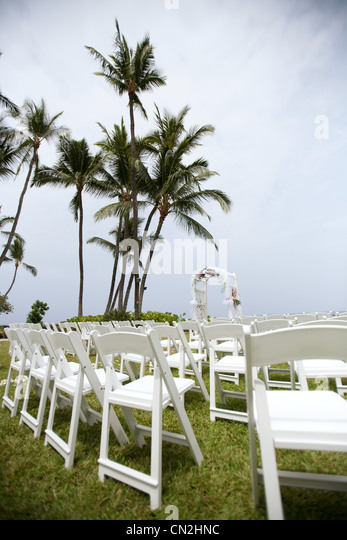 Destination wedding location, Kauai, Hawaii, USA - Stock Image