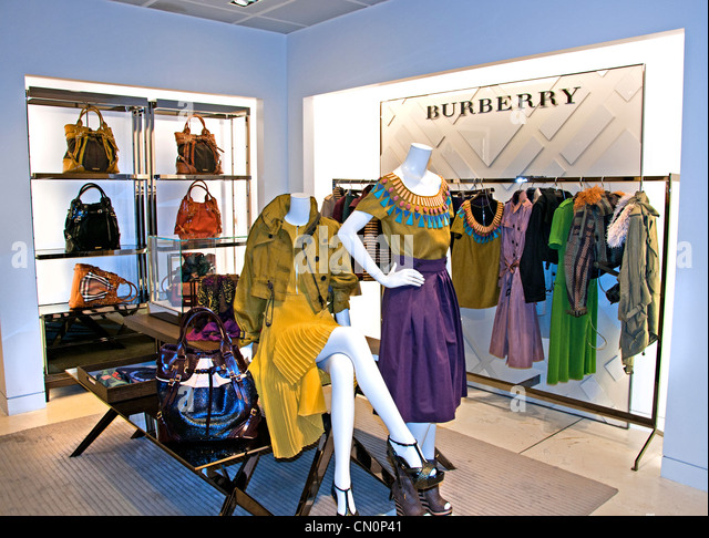 Burberry Le Bon Marché Paris France Fashion department store - Stock Image