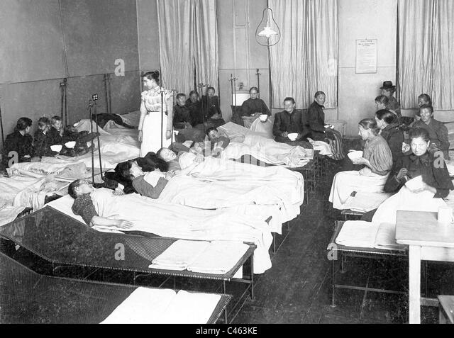 Homeless shelter, around 1908 - Stock Image