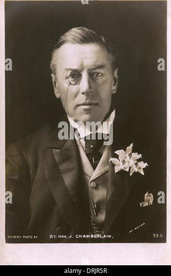 Portrait of The Right Honourable Joseph Chamberlain - Stock Image