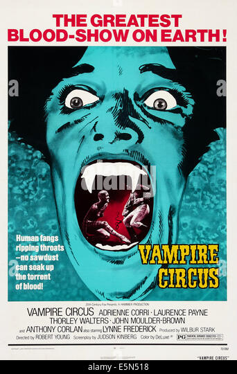 VAMPIRE CIRCUS, US poster art, 1972. TM and Copyright © 20th Century Fox Film Corp. All rights reserved/ Courtesy: - Stock Image