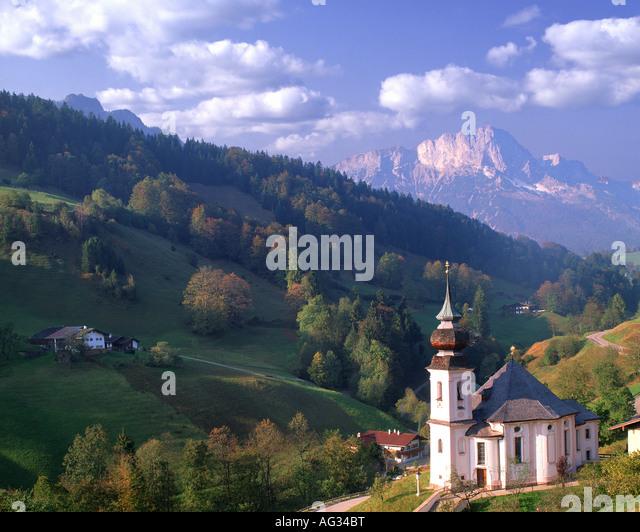 DE - BAVARIA:  Church of Maria Gern near Barchtesgaden - Stock-Bilder