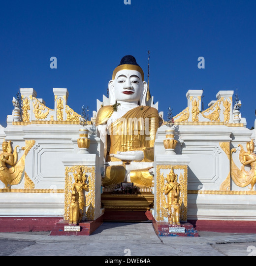 Buddhist temple near Nyaungshwe and Inle Lake in Shan State in central Myanmar (Burma) - Stock-Bilder