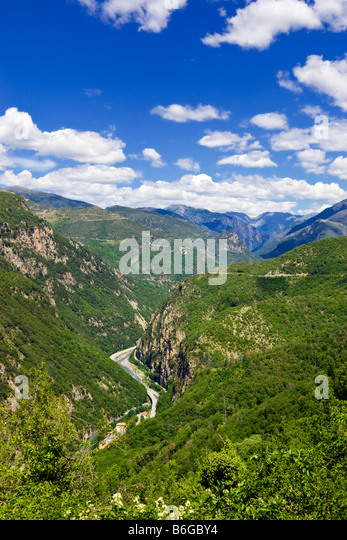 The River Tinee Valley in the Alpes Maritimes French mountains, Provence, France - Stock Image