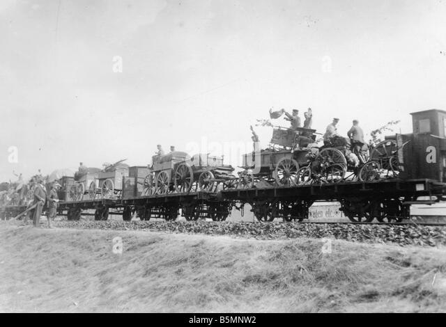 8 1914 8 0 A1 German weapons Berlin 1914 World War I 1914 18 Berlin Troop transport at a Berlin goods station Equipment - Stock Image