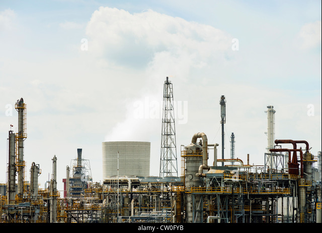 Infrastructure of factory - Stock Image