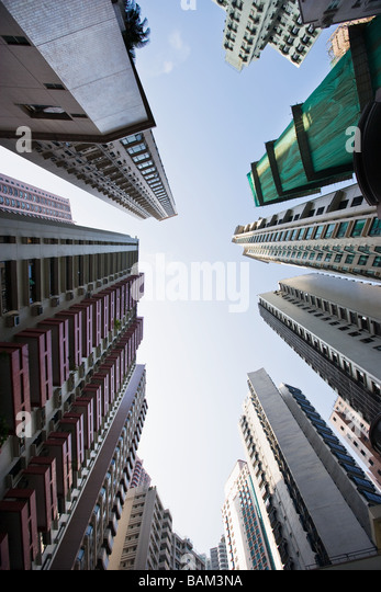 Apartment buildings in hong kong - Stock-Bilder