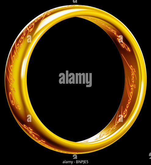 ANCIENT RING THE LORD OF THE RINGS: THE FELLOWSHIP OF THE RING (2001) - Stock Image