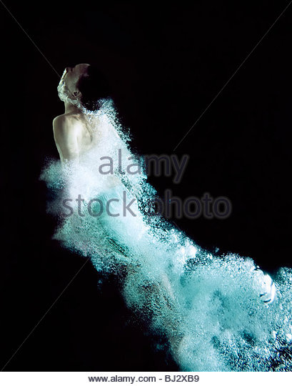 Man moving through water - Stock Image