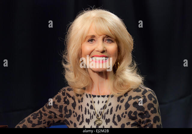 Walsall, West Midlands, UK. 20 March 2015. English pop singer Julie Rogers at a recording of 'The David Hamilton - Stock Image