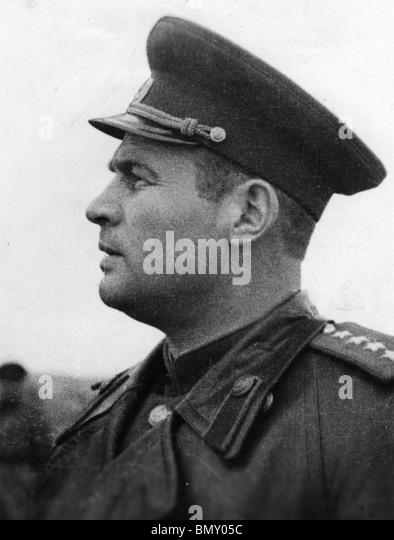 GENERAL IVAN CHERNYAKOVSKY  (1906-1945)  Youngest ever Soviet Army General - Stock Image