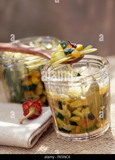courgette chutney - Stock Image