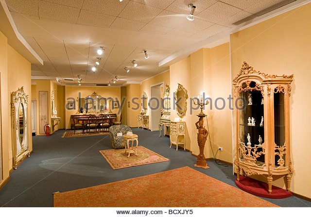 exposition, piece of furniture, cantù, lombardy, italy - Stock Image