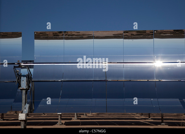 Solar Thermal Electric Generating Station - Stock Image