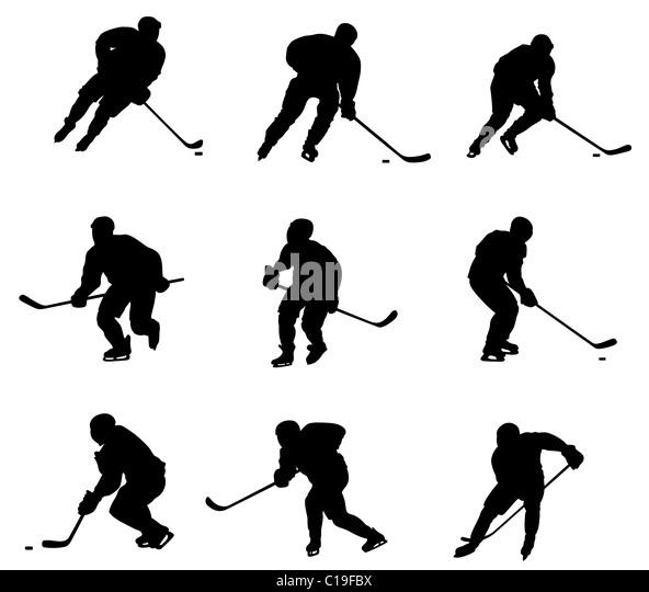 Hockey players - Stock Image
