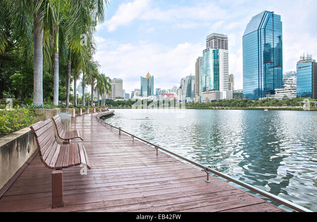 Modern city view of Bangkok, Thailand. Cityscape - Stock-Bilder