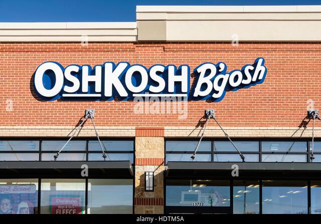 The exterior of an OshKosh B'gosh children's clothing store located Memorial Rd., Oklahoma City, Oklahoma, - Stock Image