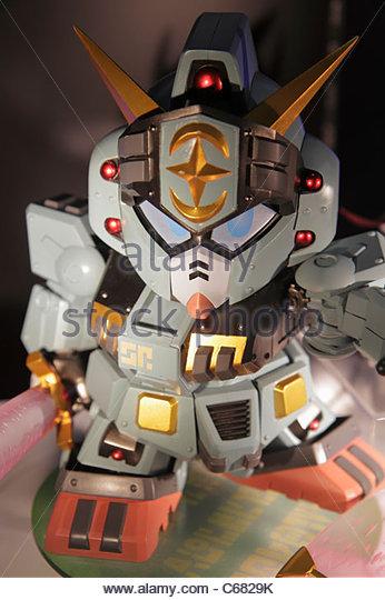 Japan Tokyo Akihabara transformer miniature collectible anime manga - Stock Image