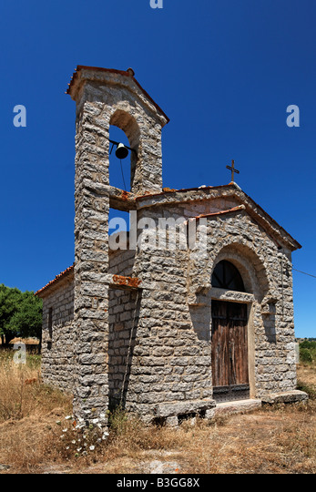 Italy Sardinia village church San Phillipa - Stock Image