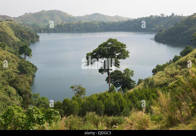 Crater lakes. Fort Portale area. Uganda. - Stock Image