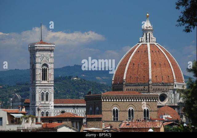 The Basilica di Santa Maria del Fiore, the cathedral church (Duomo) of Florence, Italy - Stock Image