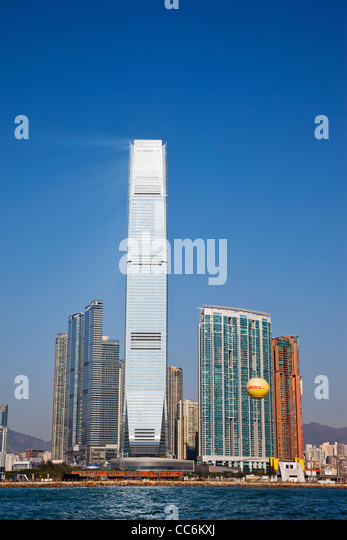 China, Hong Kong, West Kowloon, International Commerce Centre Building (ICC) - Stock Image