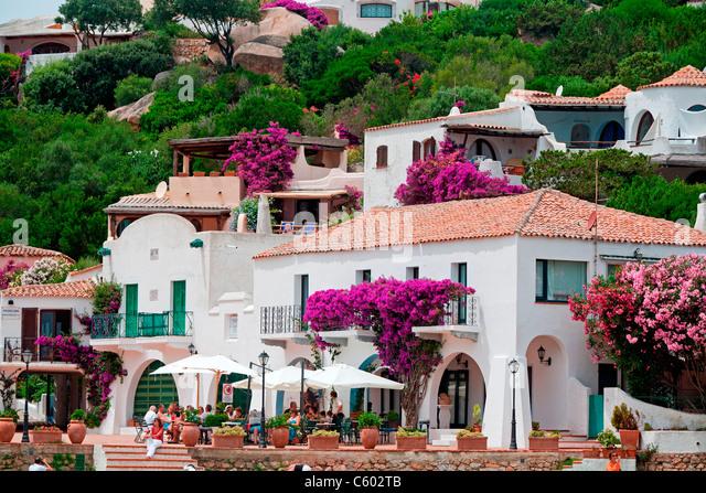 Street Cafe in Porto Rafael Italy Sardinia - Stock Image
