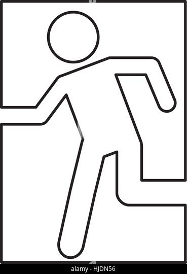 exit sign coloring page - emergency exit coloring coloring pages