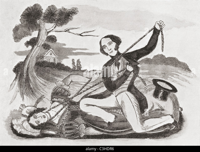 An early 19th century illustration from Leonard W. Lillingston's Catnach Press entitled The Ill Fated Victim - Stock-Bilder