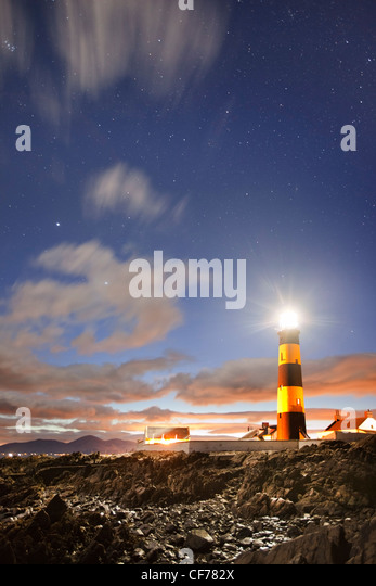 St Johns Lighthouse captured with starry sky. - Stock-Bilder