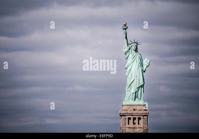 USA, New York State, New York City, Statue Of Liberty - Stock Image