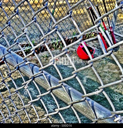 Youth baseball batting cage. - Stock Image