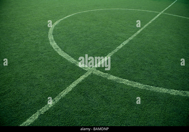 Landscape Of Soccer Field - Stock Image