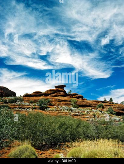 Natural amphitheatre in Alice Springs, Northern Territory, Australia - Stock-Bilder
