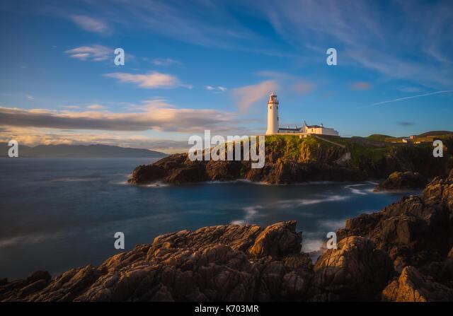 Fanad Head Lighthouse - Ireland - Stock Image