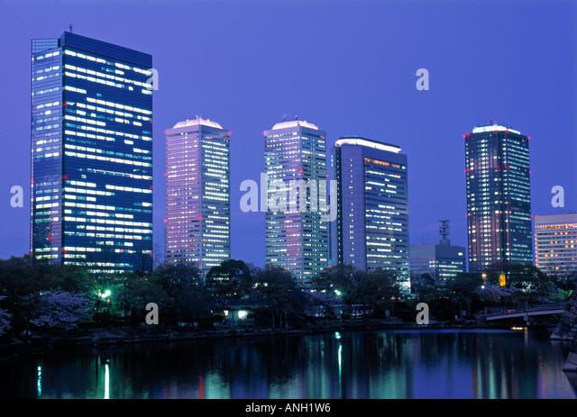 Financial District, Osaka, Japan - Stock Image