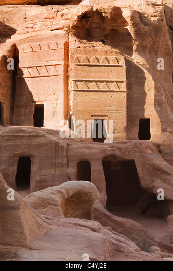 Petra, Nabataean Stone City, Jordan WORLD HERITAGE SITE - Stock Image