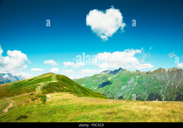 Caucasus mountains. Abkhazia. - Stock Image
