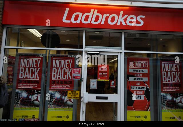 Ladbrokes,betting,gambling,UK - Stock Image