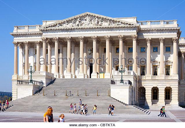 Tourist at U.S. Capitol Building, Washington D.C., USA - Stock Image