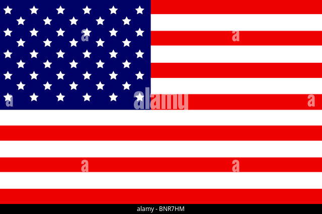 Highly Detailed 3d Render of an American Flag - Stock Image
