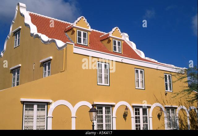 Curacao classic Dutch architecture - Stock Image